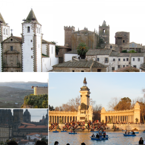 Collage of Spanish cityscapes